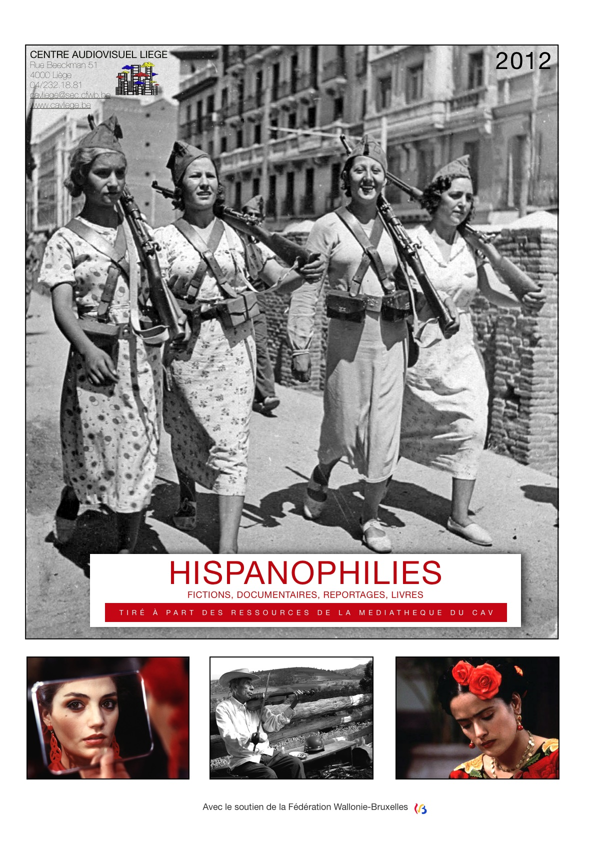 Couverture Hispanophilies 2012