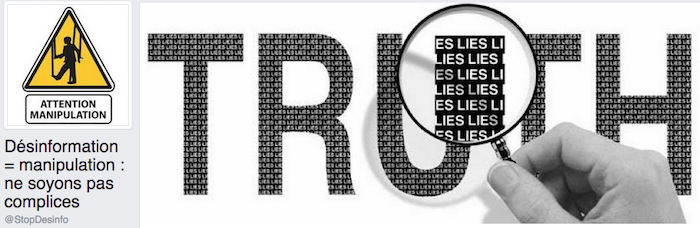 Désinformation = manipulation : ne soyons pas complices (pages Facebook)